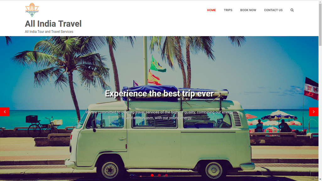 Our Products: All India Travel | A Web Application | Scideas